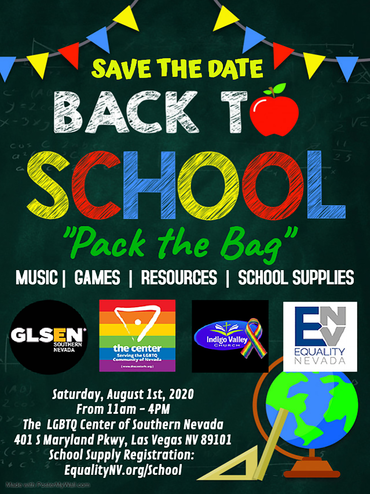 Copy of Back to school party invitation – Made with PosterMyWall